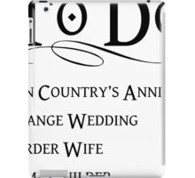 Princess Bride To Do List iPad Case/Skin