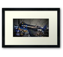 Fly Navy Corsair Approach Framed Print