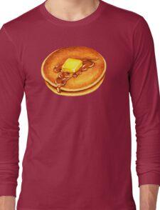 Pancakes Pattern - Blue Long Sleeve T-Shirt