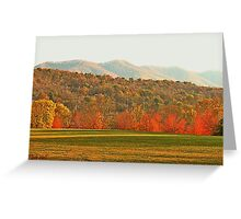 """View of the Smokies  from Mountain Home, Tennessee""... prints and products Greeting Card"