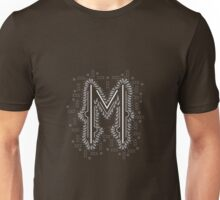 M letter logo icon design with semicircles elements Unisex T-Shirt