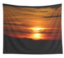Red Sunset Wall Tapestry
