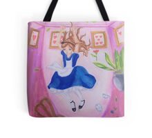 Alice in wonderland falling down the rabbithole Tote Bag