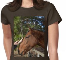 Horse, The Touch Of Tenderness. Womens Fitted T-Shirt
