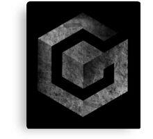 °GEEK° Gamecube B&W Logo Canvas Print