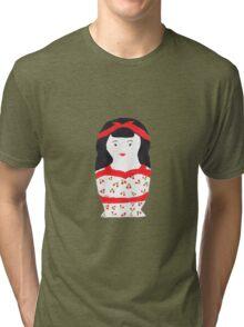 Retro Rockabilly Nesting Doll Tri-blend T-Shirt