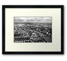 Aerial view of London Framed Print