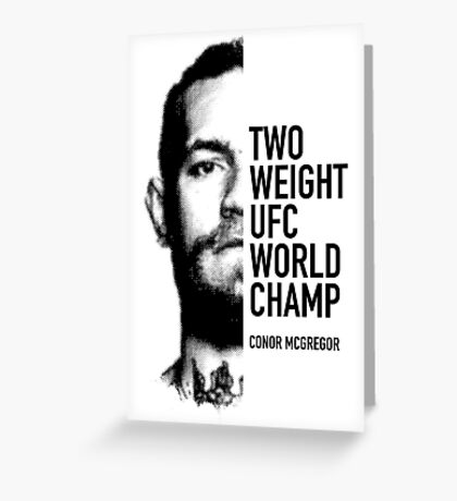 McGregor  Two-weight UFC world champion Greeting Card