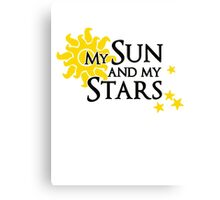 My sun and my stars - Khal Drogo & Daenerys Targaryen Canvas Print