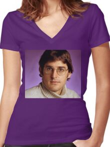 Louis Theroux Women's Fitted V-Neck T-Shirt