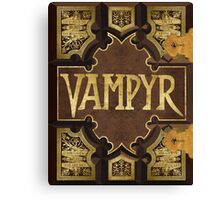 Vampyr Book Canvas Print