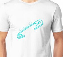 Love Trumps Hate Safety Pin Shirt (turquoise print) Unisex T-Shirt
