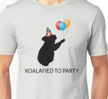 Koalafied to Party (Pun) Unisex T-Shirt