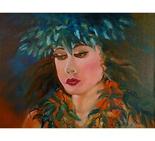 Merrie Monarch Hula Maiden Photographic Print