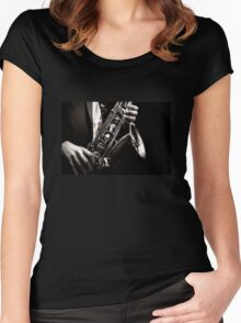 Saxophonist - Jazz Women's Fitted Scoop T-Shirt