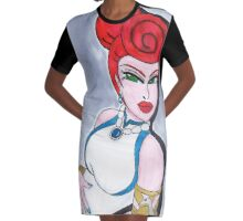 Stoneage Beauty Graphic T-Shirt Dress