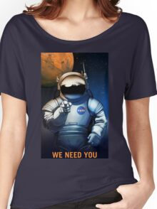 Vintage We Need You Mars Recruitment Women's Relaxed Fit T-Shirt