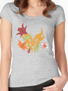 Floral Predacon Insignia Women's Fitted Scoop T-Shirt