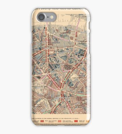 Booth's Map of London Poverty for Cathedrals ward, City of London iPhone Case/Skin
