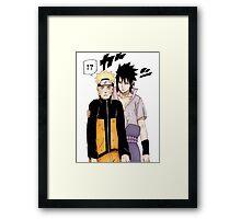 Naruto Sasuke Framed Print