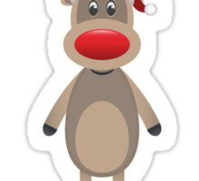Rudolph Reindeer Christmas Ugly Sweater Funny Nobody Likes You XMAS Sticker