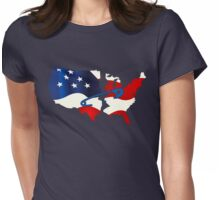 Safety Pin - USA Womens Fitted T-Shirt