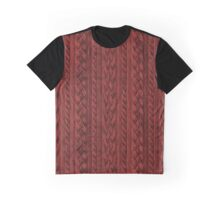 Cardinal Red Cable Knit Graphic T-Shirt