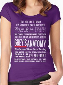 Grey's Anatomy quotes - All in One Women's Fitted Scoop T-Shirt