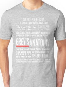 Grey's Anatomy quotes - All in One Unisex T-Shirt
