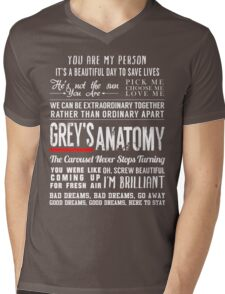 Grey's Anatomy quotes - All in One Mens V-Neck T-Shirt