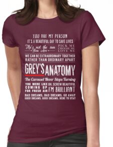 Grey's Anatomy quotes - All in One Womens Fitted T-Shirt