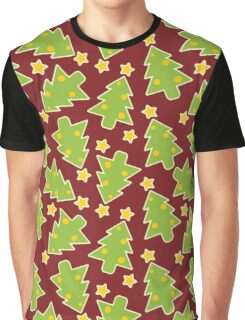 Red Christmas Trees Graphic T-Shirt