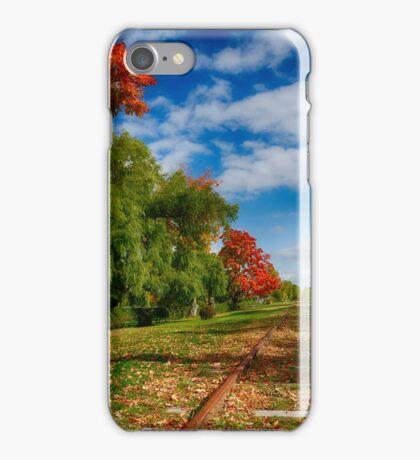Railroad Tracks at Grand-Pre National Historic Site iPhone Case/Skin