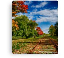 Railroad Tracks at Grand-Pre National Historic Site Canvas Print