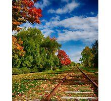 Railroad Tracks at Grand-Pre National Historic Site Photographic Print