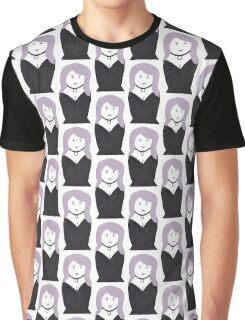 Purple Hair Goth Nesting Doll Graphic T-Shirt