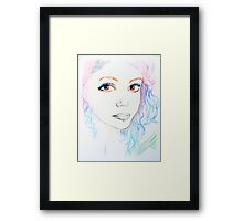 Girl in colour Framed Print