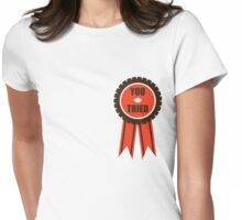 You Tried Participation Ribbon (Brown/Orange) Womens Fitted T-Shirt