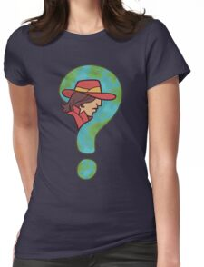 Where in the world is Carmen Sandiego? Womens Fitted T-Shirt
