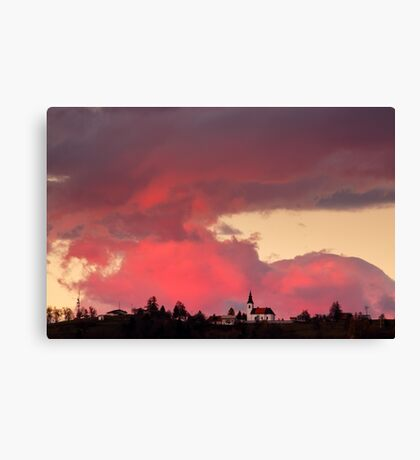 Church of Saint Nicholas at sunset Canvas Print
