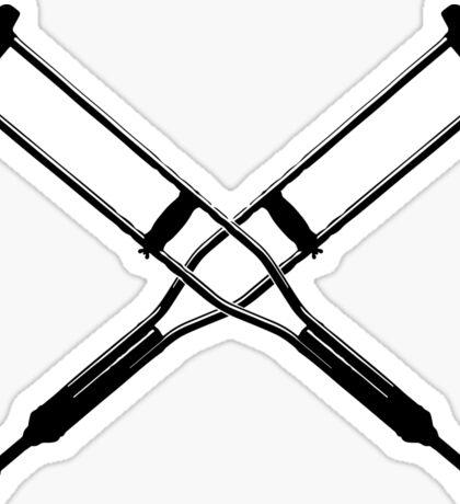Crossed Crutches Sticker