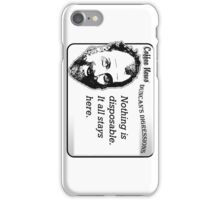 Nothing is disposable.  It all stays here. iPhone Case/Skin