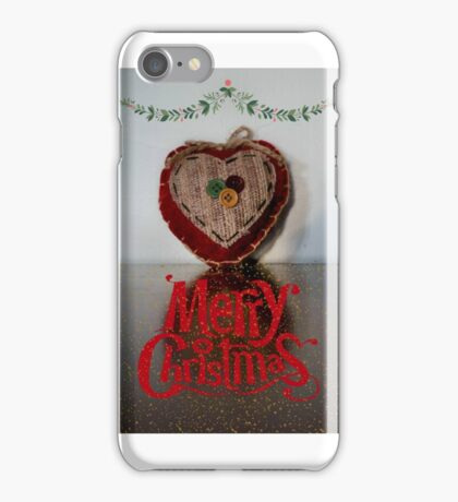 Designed heart for christmas iPhone Case/Skin