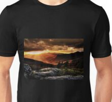 Blue Ridge Pinnacle Sunset  Unisex T-Shirt