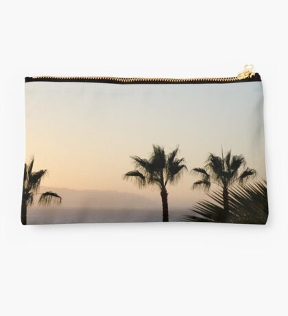 Sunset over Los Gigantes and Puerto Santiago Studio Pouch