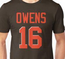 Owens 16 (Orange Name/Orange No.) Unisex T-Shirt