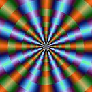 Orange Green Blue and Violet Pleats by Objowl