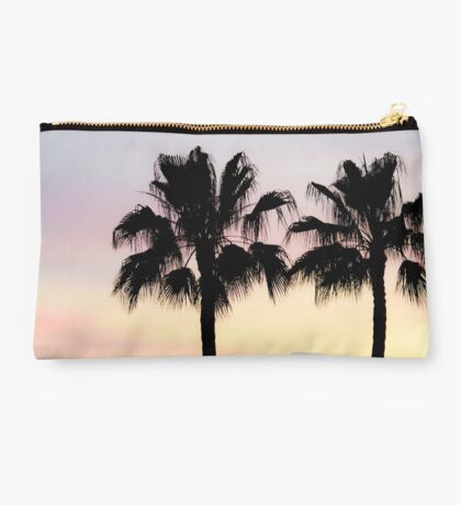 Palm trees at sunrise Studio Pouch