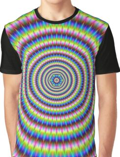 Particles and Waves with Floral Motif Graphic T-Shirt