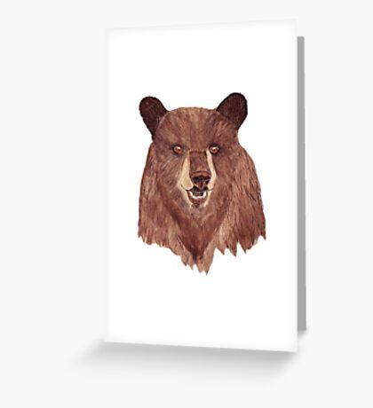 Mr Bear Greeting Card